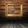 Grunge wooden room — Stock Photo