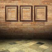 Old interests of marble and gold wooden — Stock Photo