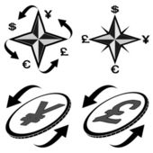Icons of financial symbols (2) — Stockvector