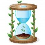 Ecological timer — Stock Vector