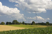 Landscape with windmill — Stock Photo