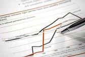 биржевая диаграмма — Стоковое фото