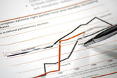 Stock chart — Stockfoto