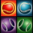 Royalty-Free Stock Vector Image: Baseballs and lines backgrounds