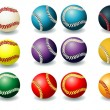 Royalty-Free Stock Vector Image: Bright baseballs
