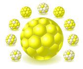 żółty piłki — Wektor stockowy