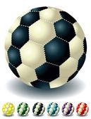 Different footballs — Stock Vector