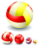 A lot of red voleyballs — Stock Vector