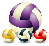 Four voleyballs — Stockvektor