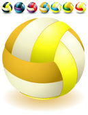 Bright voleyballs — Stock Vector