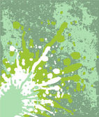 Green grunge with blots background — Stock Vector