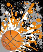 Basketball Grunge with orange blots — Stock Vector