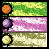 Three bright blots Basket background — Stock Vector