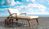Chaise longue Resort — Stock Photo