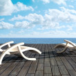 Relax in front of sea - Foto Stock