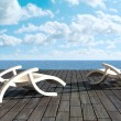 Relax in front of sea - Stockfoto