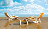 Relájese frente al mar — Foto de Stock