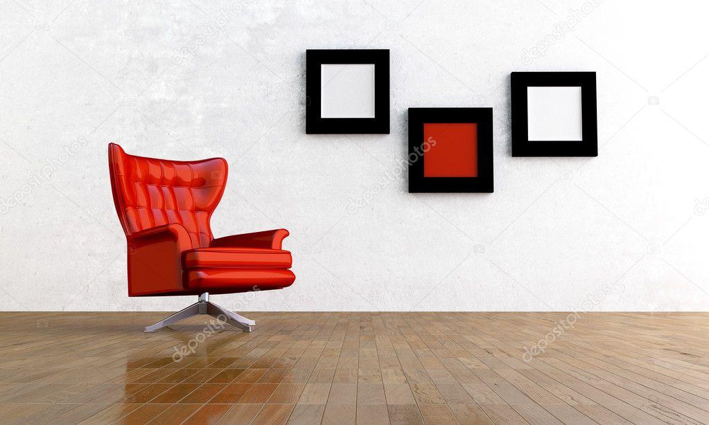 Rode stoel stockfoto jordygraph 2984856 - Comfortabele fauteuil ...