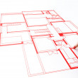 House plan drawing — Foto Stock