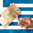 Greek bankruptcy — Stock Photo