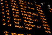 Pannello di stazione ferroviaria — Foto Stock