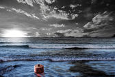 Black tide — Stock Photo