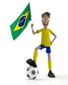 Brazilian soccer player — Stockfoto