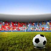 Soccer penalty kick — Stock Photo