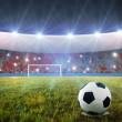 penalty du football — Photo
