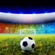 Soccer penalty kick — Stock Photo #3264293