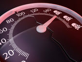 Exceed the speed limits kills — Stock Photo