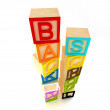 Back to school - wooden blocks letters — Stock Photo #3778589