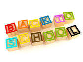 Back to school - wood letters cubes — Stock Photo
