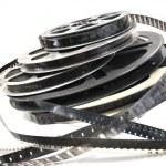 Pellicule film vidéo noir et blanc — Stock Photo #3466510