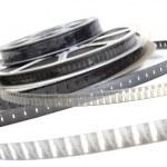 Pellicule film vidéo noir et blanc — Stock Photo #3466561