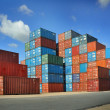Containers au port - Stockfoto