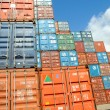 Stock Photo: Containers au port