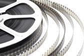 Pellicule film vidéo noir et blanc — Stock Photo
