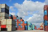 Behållare au port — Stockfoto