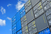 Containers au port — Stock Photo