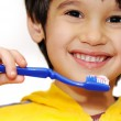 Boy cleans teeths — Stock Photo #2719501