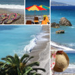 Resort collage3, beach — Stock Photo