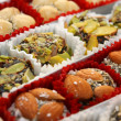 Traditional turkish delight sweets - Foto Stock