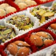 Traditional turkish delight sweets — Stock Photo