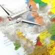 Europa-Karte mit Vulkan Staub 3 — Stockfoto