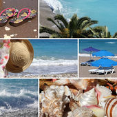 Resort collage4, beach — Stock Photo