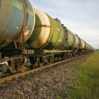 Stock Photo: Oil transportation by rail