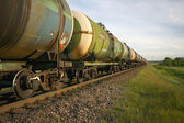 Oil transportation by rail — Stock Photo