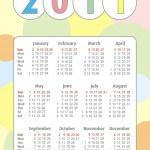 2011 calendar, vector — Stock Vector #3740061