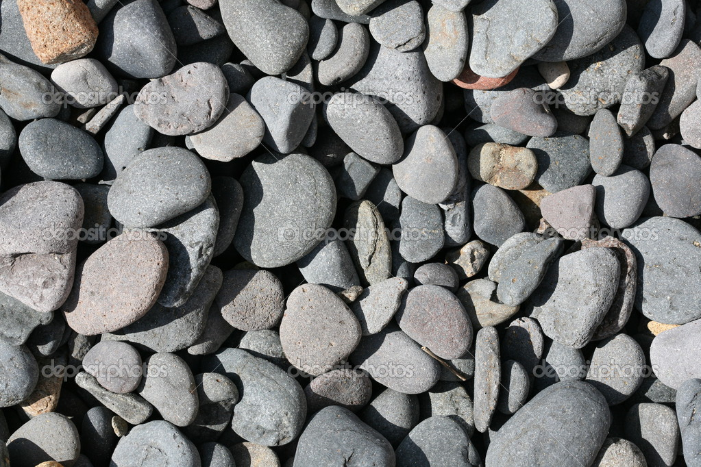 Texture of basalt stones on the beach — Stock Photo #3512896